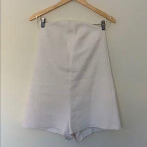 Zara white strapless playsuit romper ⚪️ small